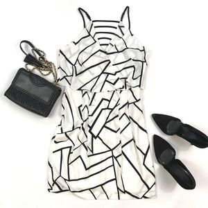 Adelyn Rae Black and White Party Cocktail Dress S
